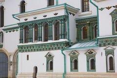 moscow 23rd jerusalem juni kloster nya russia för 2007 Keramisk dekor av templet Arkivfoto