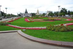 Reconstruction of VDNH. Moscow. Reconstruction of pavilions on the territory of VDNH Royalty Free Stock Photo