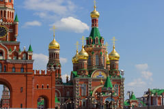 Moscow red cremlin copy Stock Images