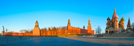 Moscow Red Square. Hight resolution panoramic image of the Red Square in Moscow, Russia Royalty Free Stock Image