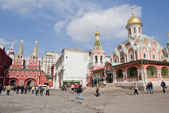 Moscow Red square. The church in Moscow Red square, taken on April 2012 Stock Images