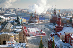 Moscow, Red Square And The Kremlin In Winter Stock Images