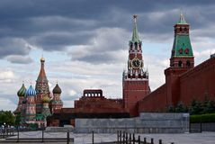 Moscow, Red square. Cloudy day in Moscow Stock Photo
