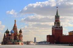 Moscow Red square with Kremlin Royalty Free Stock Images