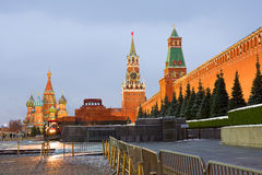 Moscow. Red Square. The Moscow Kremlin is situated in the heart of the Russian capital. The Moscow Kremlin is a big architectural complex, a fortress, a Stock Photo