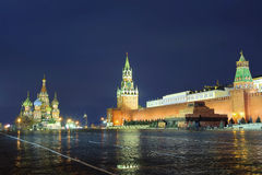 Moscow. Red Square. The Moscow Kremlin is situated in the heart of the Russian capital. The Moscow Kremlin is a large architectural complex, a fortress, the Royalty Free Stock Photography