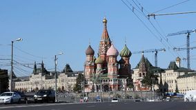 Moscow, Red Square, Kremlin and St. Basil Cathedral stock video footage