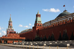 Moscow. Red Square. Lenin Mausoleum, Spasskaya Tower of the Kremlin Royalty Free Stock Images