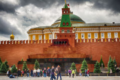 Moscow. The red square Mausoleum. The Mummy Of Vladimir Lenin. The crypt in Russia. A popular tourist destination. 22/06/2017 11.30 am Stock Image
