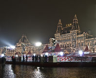 Moscow, Red square at night Stock Image