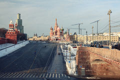 Moscow Red Square. Repair restoration views Royalty Free Stock Image