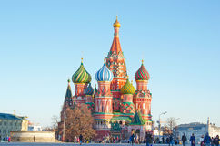 MOSCOW, RED SQUARE. RUSSIA, MOSCOW - MARCH 23 - 2016: Red square, view of St. Basil`s Cathedral Stock Image