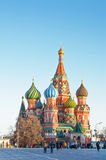 MOSCOW, RED SQUARE. RUSSIA, MOSCOW - MARCH 23 - 2016: Red square, view of St. Basil`s Cathedral Royalty Free Stock Photo