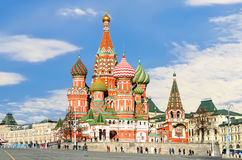 MOSCOW, RED SQUARE. Moscow,Russia,Red square,view of St. Basil`s Cathedral Royalty Free Stock Image