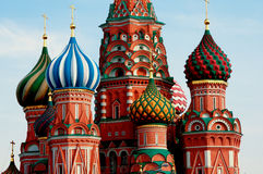 Moscow. Red Square. Saint Basil Cathedral. The Cathedral of the Protection of Most Holy Theotokos on the Moat Royalty Free Stock Photography