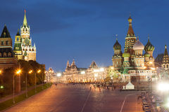 Moscow, Red Square, Saint Basil Church Royalty Free Stock Photo