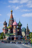Moscow. Red Square. Saint Basil's Cathedral. The Cathedral of the Protection of Most Holy Theotokos on the Moat Royalty Free Stock Photography