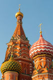 Moscow. Red Square. Saint Basil's Cathedral. The Royalty Free Stock Photos