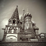 Moscow. Red Square. Saint Basil's Cathedral Royalty Free Stock Image