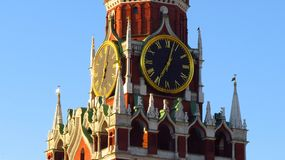 MOSCOW, RED SQUARE, SPASSKAYA TOWER Royalty Free Stock Photos