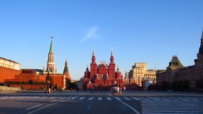 MOSCOW, RED SQUARE, SPASSKAYA TOWER Stock Photography