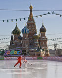 Moscow, Red Square and St. Basil's cathedral Royalty Free Stock Photos