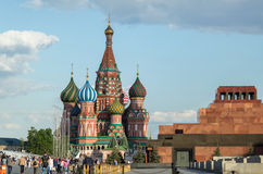 Moscow, Red Square. Moscow, St. Basil's Cathedral, the Mausoleum Stock Photo