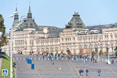 Moscow. Red Square and Vasilevsky descent Royalty Free Stock Images