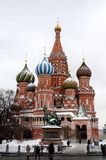 Moscow, Red square,view of St. Basil`s Cathedral Stock Photo