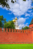 Moscow, Red wall, the Orthodox Church Royalty Free Stock Photo