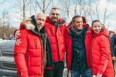MOSCOW REGION, FRYAZINO, GREBNEVO ESTATE - MARCH 09 2019: Samy Naceri French actor of Taxi films and his brother Bibi. Nacery visiting the Grebnevo. Samy stock photo