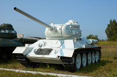MOSCOW REGION, RUSSIA - JULY 30, 2006: Soviet tank T-34 in the T Royalty Free Stock Photography