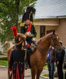 MOSCOW REGION - SEPTEMBER 06: Historical reenactment battle of Borodino at its 203 anniversary. Stock Photography