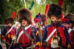 MOSCOW REGION - SEPTEMBER 06: Historical reenactment battle of Borodino at its 203 anniversary. Stock Photography