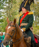 MOSCOW REGION - SEPTEMBER 06: Historical reenactment battle of Borodino at its 203 anniversary. Stock Photos