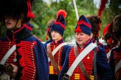 MOSCOW REGION - SEPTEMBER 06: Historical reenactment battle of Borodino at its 203 anniversary. Stock Image
