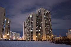 Moscow modern residental area Stock Images