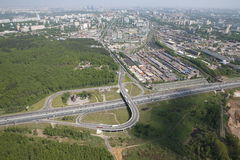 Moscow ring road Stock Images