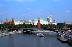 Moscow the river. In capital of Russia Royalty Free Stock Photo