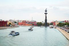 Moscow river Royalty Free Stock Photos