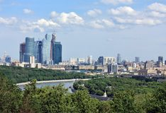 Moscow River and area of Royalty Free Stock Photo