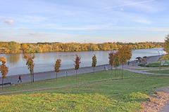 Moscow river in Autumn. Kolomenskoye Stock Image