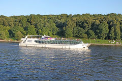 Moscow river boat Royalty Free Stock Photos