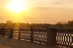 Moscow River embankment Stock Image