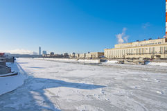 Moscow river embankment Royalty Free Stock Photos
