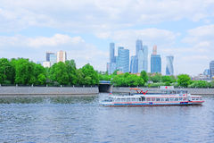 Moscow river embankment Stock Photography