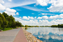 Moscow River and  in Kolomenskoye Royalty Free Stock Photography