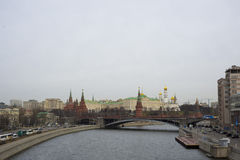 Moscow river and Kremlin Royalty Free Stock Photography