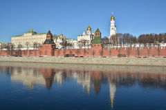 Moscow river and the Kremlin. Stock Photo