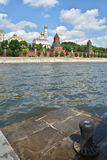 Moscow river and the Kremlin. Stock Image